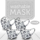 4 Pack Mix! Face Mask Paisley Reusable Washable Protection Cover Breathable