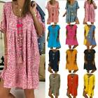 Women Baggy Pullover Tunic Dress Summer Casual Loose Long T-Shirt Tops Plus Size