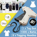 Clothes Regular Garment Price Label Tagging Tag Gun 1000 Barbs + 5 Needles US