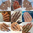 Women's Jewelry Bohemian Stack Above Knuckle Rings Band Midi Finger Ring Set