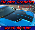 Fits Dodge Challenger Sport Hood Stripes Vinyl Graphics 3M Decals Stickers 15-20 $59.99 USD on eBay