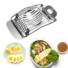 Egg Slicer Stainless Steel Eggs Hard Boiled Metal Tomato Cutter Section Chopper