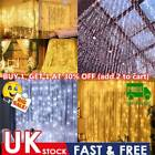 Curtain String Lights 100/200 Led Solar Fairy String Waterfall Lights Home Decor