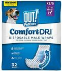 OUT! Disposable Male Dog Diapers   Absorbent Male Wraps with Leak Protection   E