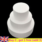 Round Polystyrene Styrofoam Foam Cake Dummy Party Home Decor Diy Craft Uk