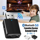 USB 3IN1 Bluetooth Adapter 5.0 Music Audio Receiver Transmitter Wireless Adapter