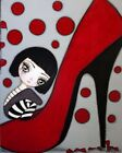 Coco by Dottie Gleason Red Heels Shoe Girl Fine Art Print Poster for Framing