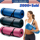 Kyпить Yoga Mats 0.375 inch (10mm) Thick Exercise Gym Mat Non Slip With Carry Straps на еВаy.соm
