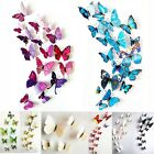 New 12x Cute 3d Butterfly Wall Stickers Decorative Sticker Home Room Decor