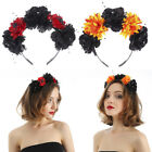 Gothic Rose Flower Crown Hair Garland Festival Halloween Headband Headpiece