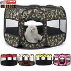 Pet Tent Dog Cat House Cage Tent Outdoor Playpen Puppy Kennel Octagonal Fence