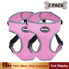 2 Pack Dog Harness Adjustable Vest Mesh for Small and Medium Dogs Reflective