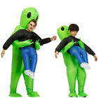Adult/Kid Inflatable Monster Costume Halloween Green Alien Carrying Me Cosplay