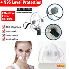 Clear Mask Face Mouth Cover Filters Respirator face shield  Reusable Washable