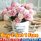 10 Heads Artificial Silk Hydrangea Fake Flowers Bouquet Bunch Party Home Decor