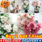 Realistic Artificial Silk Flowers Fake Bouquet Wedding Table Home Party Decor Uk