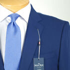 46R SAVILE ROW Solid Blue 3 Piece SUIT SEPARATE  46 Regular Mens  - SS37a