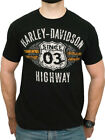 Harley-Davidson Mens H-D Highway Sign Black Short Sleeve Crew T-Shirt $12.99 USD on eBay
