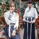 Unsex Chinese Style Swordsman Hanfu Cosplay Costumes Ruqun Robe Men Women Retro