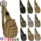 Tactical Sling Military Chest Pack Outdoor Rover Small Shoulder Bag Molle Hiking