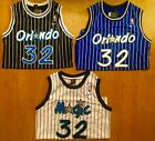 Shaquille Shaq O'Neal #32 Men's Throwback Orlando Magic BLUE/BLACK/WHITE Jersey on eBay