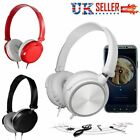 Wired Bass HiFi Stereo Headphones Headset Over Ear For iPhone Samsung