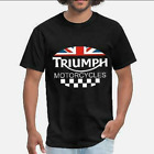Lucky Brand Triumph Motorcycle UK T-shirt Funny Vintage Gift Men Women $16.75 USD on eBay