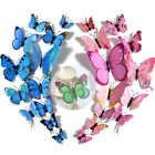 12pcs 3d Butterfly Wall Stickers Home Decal Décor Decoration Magnetic+adhesive