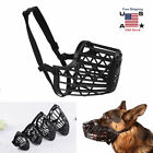 Large Pet Dog Basket Muzzle Mouth Cover Mesh Cage NoBarking Biting Chewing