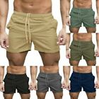 Mens Fitness Sports Shorts Football Gym Workout Training Running Jogging Pants