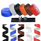 Handlebar Tape PU Leather Cycling Road Bike Bicycle  Handle Bar Grip Wrap Tapes