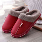 Womens Winter Slippers Indoor Outdoor Mules Plush Lined Warm House Shoes Sizes