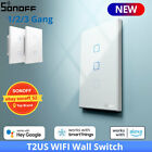 Sonoff T2 US Wifi Smart Home Wall Touch Light Switch RF Voice APP Remote Control