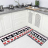 Carvapet 2 Piec Non-Slip Kitchen Rug TPR Anti-Slip Backing Mat for Doorway Rug