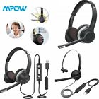 Mpow USB/Bluetooth Computer Headset Headphones Mic For PC Laptop Call Center