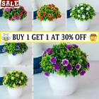 Artificial Potted Flowers Fake False Plants Outdoor Garden Home In Pot Decor