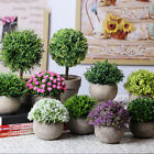 Real Touch Artificial Fake Flowers Plant Bonsai With Pot Home Party Garden Decor