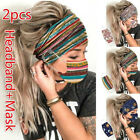 Women Headband + Mask Outdoor Hairband Face Mask Hairband With Buttons Usa