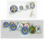 Auto Emblem Display Holder for Car Desk Mason Shriner Knights Templar Elk OES