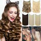 Long Curly Hidden Halos Secret Wire In Hair Extensions Straight One Hair Piece