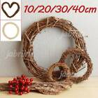 Natural Dried Rattan Wreath Xmas Garland Home Door Wall Diy Decor Gift Christmas