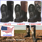 HISEA Men's Muck Mud Boots Insulated Breathable Rain Snow Hunting Working Boots