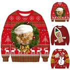 Mens Womens UGLY Christmas Sweater President Funny Xmas Festive Pullover Jumper