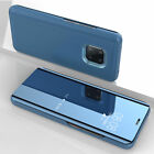 For Huawei Mate P30 Pro 20 X 10 P9 Lite 2017 Smart Mirror Flip Stand Case Cover
