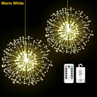 200LED Firework Fairy Lights Hanging String Light Outdoor Garden Christmas Tree