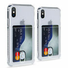 Card Slot Transparent Shockproof Case Cover Fits iPhone 11 Pro Max XS XR 7 8Plus