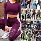 Women Yoga Pants Seamless High Waist Butt Lift Leggings Tummy Control Trousers