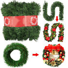 Christmas Green Garland Home Office Xmas Party Garden Holiday Decor 8.9FT