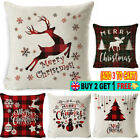 Christmas Throw Square Pillowcase Cushion Couch Covers Xmas Decor 45x45CM
