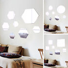 7x Diy Stick On Wall Mirror Glass Bathroom Bedroom Wedding Plate Decoration Ace